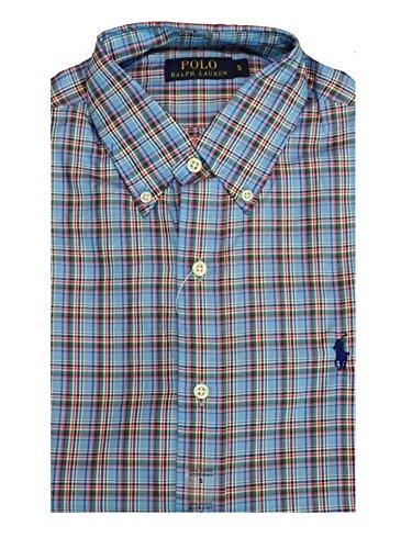 Ralph Lauren Hemd - Custom Fit - Blau Multi kariert - BD Plaid Blue - Button Down - S