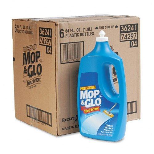 Triple Action Floor Cleaner, Fresh Citrus Scent, 64oz Bottles, 6/Carton, Sold as 1 Carton (Citrus Scent Benckiser Reckitt)