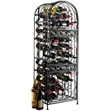 Eight24hours Renaissance Wrought Iron Wine Jail (Wine Rack), Black