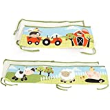 Baby's First by Nemcor McDonald's Farm Crib Bumper Set, 4 Piece