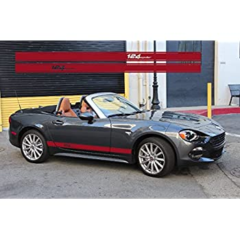 snstyling.com Fiat 124 Spider Side Decal Rocker Stripe L+R Set (Red)