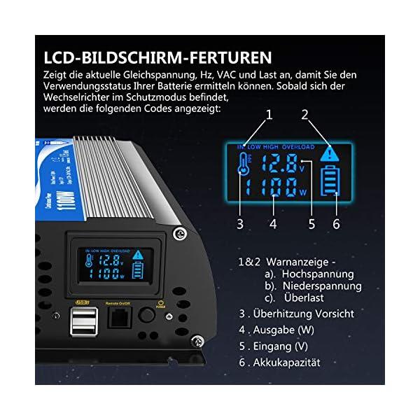 51viwUkCslL 2000W Modifizierter Welle Wechselrichter 12v auf 230v Spannungswandler Umwandler-Inverter Konverter mit Fernbedienung…