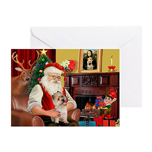 CafePress - Santa's Cairn Terrier - Greeting Card (20-pack), Note Card with Blank Inside, Birthday Card - Note Cards Cairn Terrier