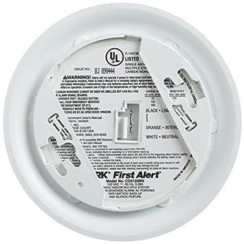 BRK Brands CO5120BN Hardwire Carbon Monoxide Alarm with Battery Backup 4 Pack