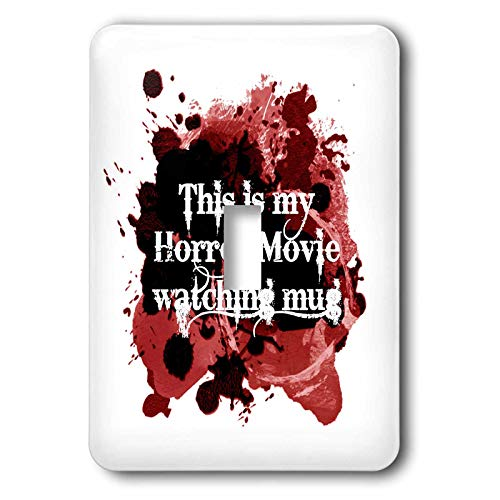 3dRose InspirationzStore - Occasions - This is my Horror Movie watching mug - for scary halloween film fans - 2 plug outlet cover (lsp_317314_6)]()