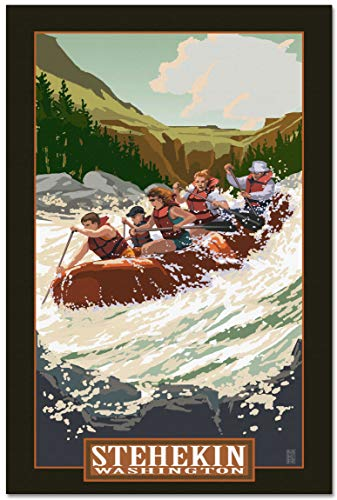Stehekin Washington Whitewater Rafting Giclee Archival Canvas Print Wall Art Décor for Home & Office by Mike Rangner (30