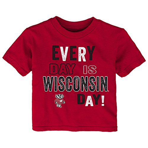 (Gen 2 NCAA Wisconsin Badgers Toddler Everyday Short Sleeve Tee, 4T, Dark Red)