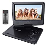 DBPOWER 9.5-Inch Portable DVD Player with Rechargeable Battery, SD Card Slot and USB Port - Black