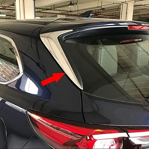 Beautost Fit For Mazda 2017 2018 2019 2020 CX-9 CX9 Chrome Rear Spoiler Wing Side Beveled Window Cover Tims