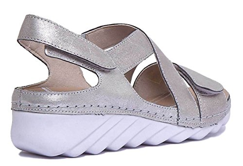 Women's Fashion Platino 3680649730 Romika Sandals 1xfdwn0