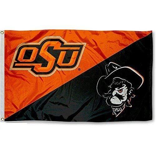 Oklahoma State Cowboys Divided Logo Flag 3 X5 OSU ()