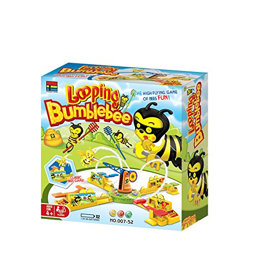 Sytle-Carry Looping Bee Games Board Games - Looping Bumblebee Classic Bees Game for Children & Adult -