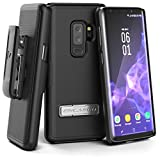 #10: Encased Samsung Galaxy S9 Plus Belt Clip Holster (Slimline Series) Combo Case w/Unbreakable Alloy Kickstand (Smooth Black)