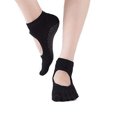 Dedos De Mujer Deporte Antideslizante De Calcetines Yoga ...