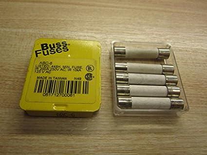 LOT OF 5 ABC-30 ABC30 BUSS BUSSMANN FUSES 125 VOLT
