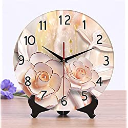 12 inch ceramic Watches Creative clock living room Ultra mute wall Clock dual-use classical magnolia 12 inches.