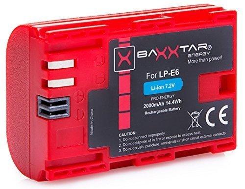 Bundlestar * BAXXTAR PRO-ENERGY Qualitätsakku für Canon LP-E6 mit Infochip - Intelligentes Akkusystem -