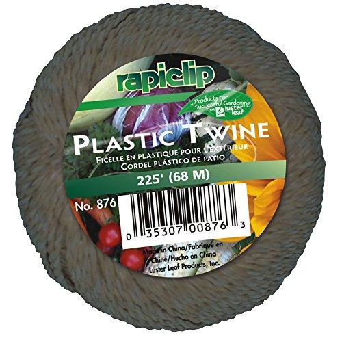 Luster Leaf Rapiclip Plastic Yard Twine - 225 Foot Roll 876 (Twine Plastic)