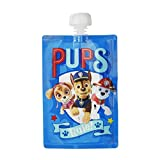 Paw Patrol Reusable Baby Food Storage Pouch - Make Organic Food Puree for Your Toddler and Store in Refillable Squeeze Pouches - Bulk Set of 10 Zipper Pouches
