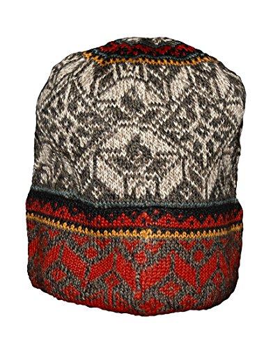 Invisible World Women's 100% Alpaca Wool Hat Knit Unisex Beanie Winter Greta Md