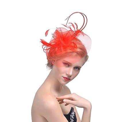 TAO Cappello da Fascinator inglese per cappelli da sposa Accessori per  capelli da sposa (Colore