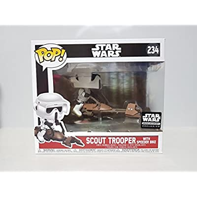 MPreview POP! 234 Star Wars Scout Trooper with Speeder Bike Exclusive Vinyl Bobble Head: Toys & Games