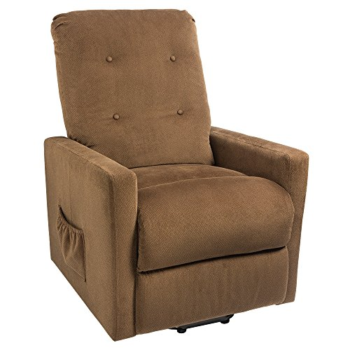 Homall Recliner Power Lift Chair Easy Comfort Recliner Living Room Furniture with Remote (Brown) by Homall