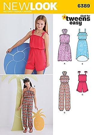 New Look einfaches Schnittmuster für sommerliche Mädchen-Jumpsuits ...