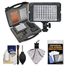 Vidpro 9-Piece Pro Photo/Video LED Light Kit with Diffusers & Case with Cleaning & Accessory Kit