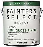 True Value VSG11-GL Painter's Select Basics White Latex Semi-Gloss Enamel, 1-Gallon