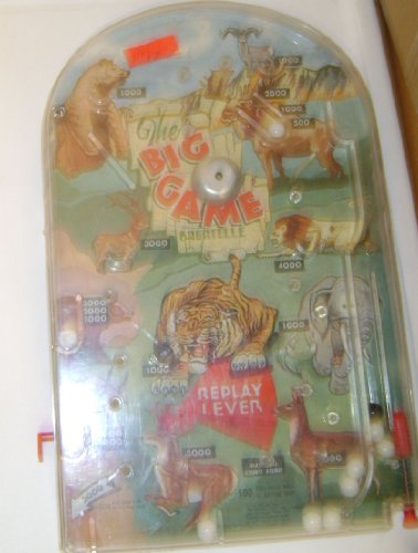 The Big Game Bagatelle Table Top Pinball