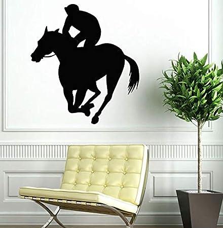 Tianpengyuanshuai Pegatinas de Pared de Vinilo Calcomanías de Pared para Montar a Caballo Extraíble Horse Racing Sports Vinyl Wall Painting 43X24cm