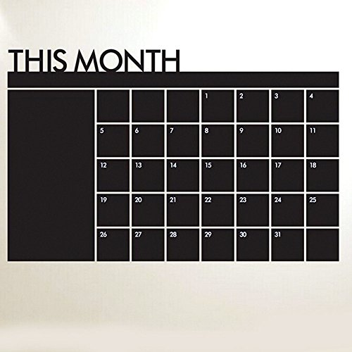 RONGT 60 92cm Monthly Plan Calendar Wall Sticker Blackboard MEMO Blackboard Vinyl Wall Stickers Home Decoration Wall Study (Transformers 2 Alice)