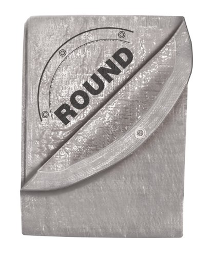 24-Foot by 24-Foot Silver Tarp, Round