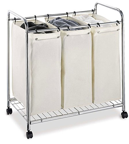 Functional And Fashionable Laundry Organizer It All 3-section Laundry Sorter