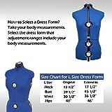 Blue 13 Dials Female Fabric Adjustable Mannequin