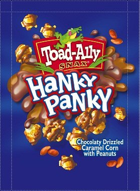 Toad Ally Snax Amazon Com Hanky Panky Chocolate Drizzled Popcorn With Peanut 16 Oz
