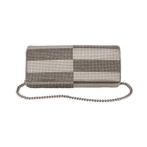 whiting-davis-metal-mesh-tri-flat-flap-shoulder-bag-pewter-pearl-one-size