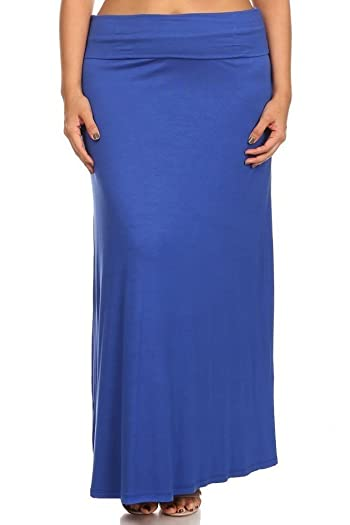 Regular and Plus Size Comfortable Maxi-Skirt - Made in USA