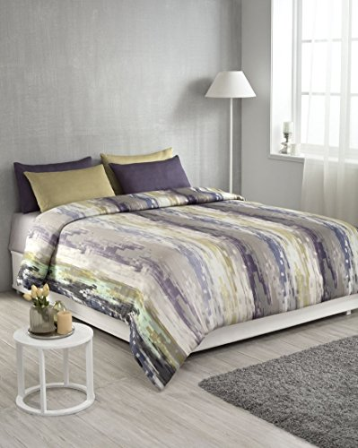 D'Decor Cotton 150TC Double Bedsheet With 2 Pillow Covers – Abstract, Green