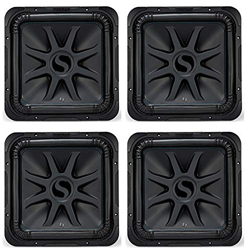"Kicker Solo-Baric L7S 2000W 15"" 4 Ohm DVC Square Subwoofer (4 Pack)"