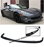 ZR1 Style ABS Plastic Black Front Bumper Lower Lip Kit Splitter Spoiler Wing For 05-13 Chevrolet Corvette C6 Base Models 2005 2006 2007 2008 2009 2010 2011 2012 2013 05 06 07 08 09 10 11 12 13 Chevy