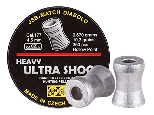 JSB Diabolo Exact Ultra Shock Hollow Head Air Gun Pellets .177 Cal, 10.3 Grains, 350ct