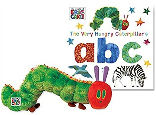 The Very Hungry Caterpillar Book Bundle with Hungry Caterpillar Plush and The Very Hungry Caterpillar's ABC Board Book (The World of Eric Carle) Christmas Gift Set (Christmas Eric)