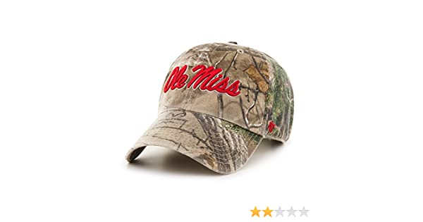 0e13dc352bab1 Amazon.com    47 NCAA Mississippi Old Miss Rebels Realtree Clean Up  Adjustable Hat