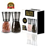 Cheffco Salt and Pepper Grinder Set with Adjustable ceramic...