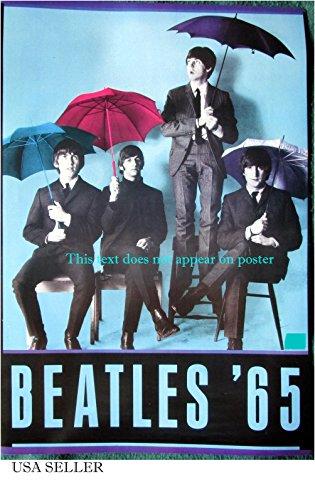 Beatles '65 colorized umbrellas POSTER 14.5 x 21 John Lennon Paul McCartney higher qual (sent FROM USA in PVC - Paul Poster Mccartney
