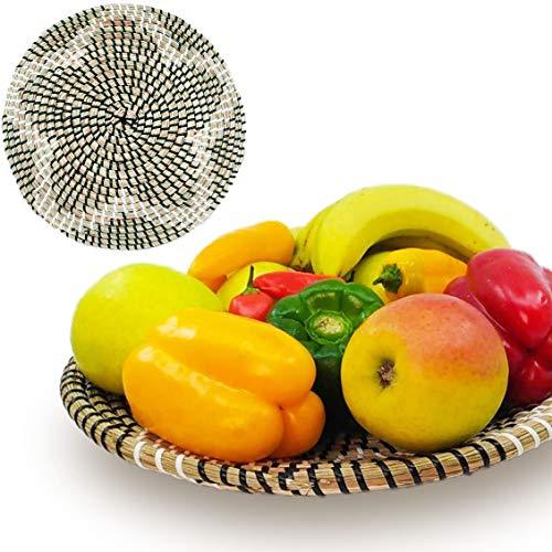 - Ann Lee Design Natural Woven Fruit Basket Bowl (D 13.5