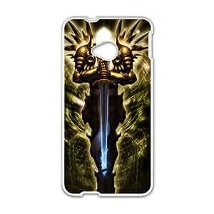 Diablo Diablo HTC One M7 Cell Phone Case White DIY Gift xxy002_0388970