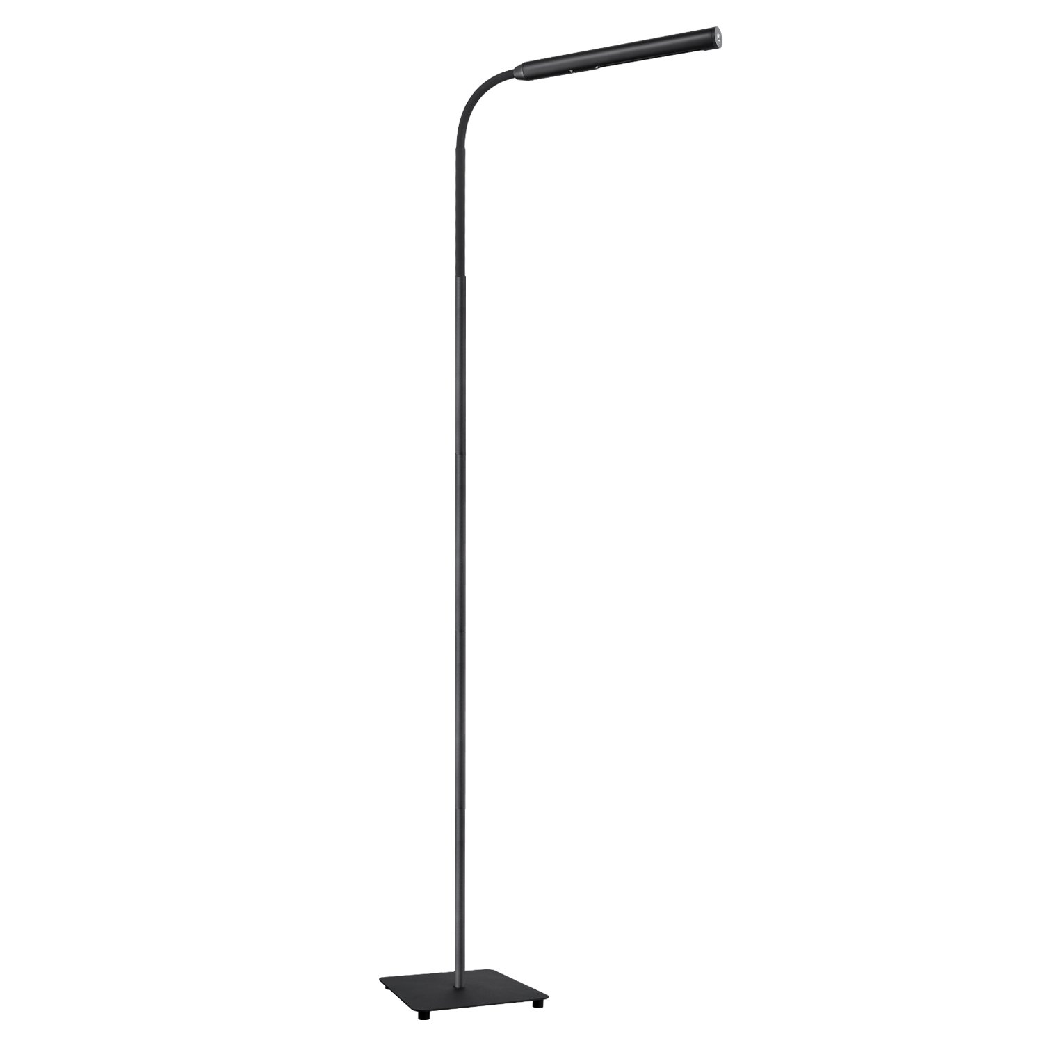 AUKEY LED Floor Lamp, Eye-Care Touch Lamp with Stepless Dimming and Flexible Gooseneck, Natural White Lighting for Relaxing, Reading and Craft Work LT-ST33